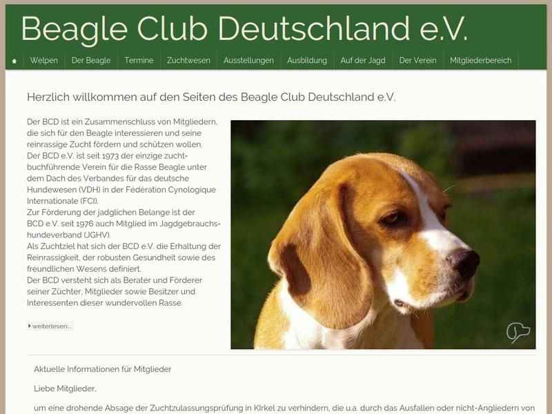 Screenshot von http://www.beagle-club.de/